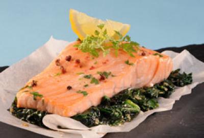Recette pav de saumon aux pinards 750g - Comment cuisiner pave de saumon ...