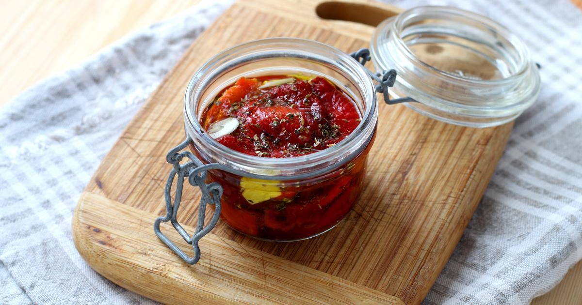 Recette comment faire des poivrons marin s maison en pas pas - Comment cuisiner des poivrons ...