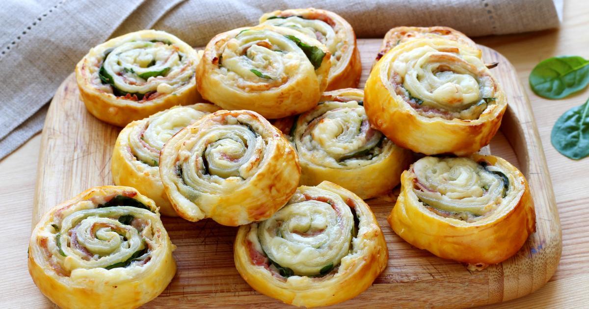 Comment faire des escargots feuilletés pour l'apéro (jambon et fromage)