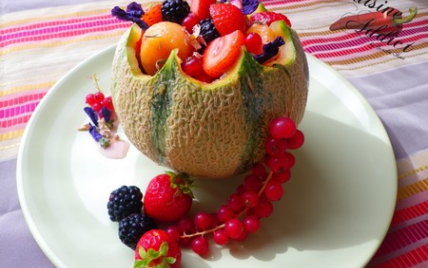 Recette melon aux fruits rouges sirop l ger aux - Cuisine tv recettes 24 minutes chrono ...