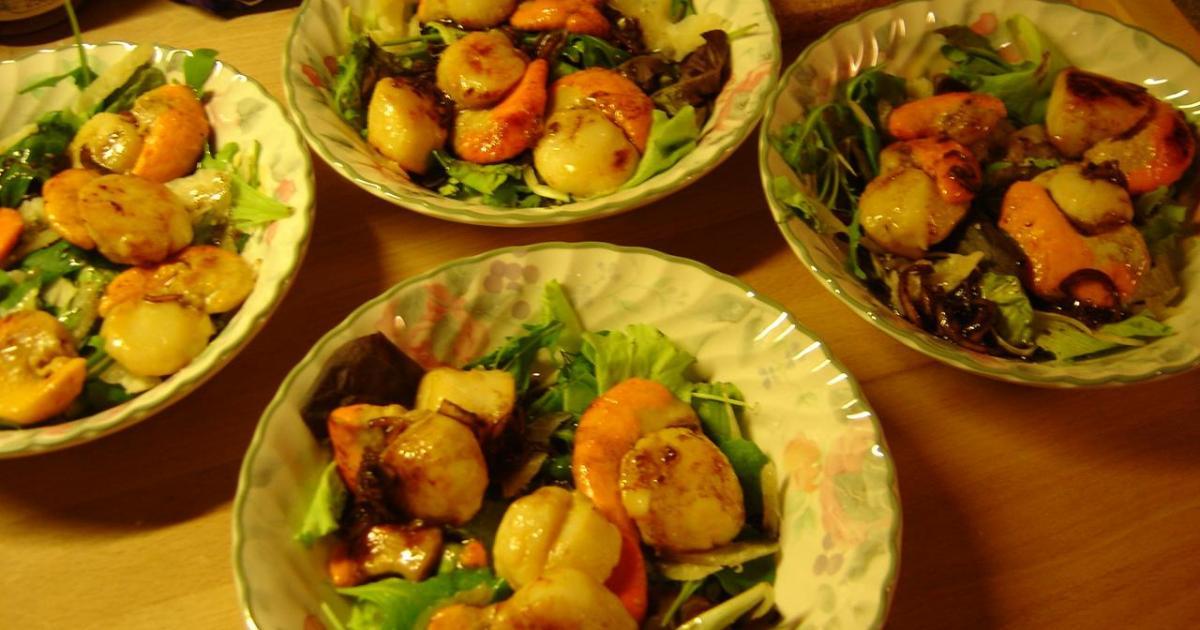 Recette salade de coquilles st jacques aux asperges et - Comment cuisiner des coquilles st jacques ...