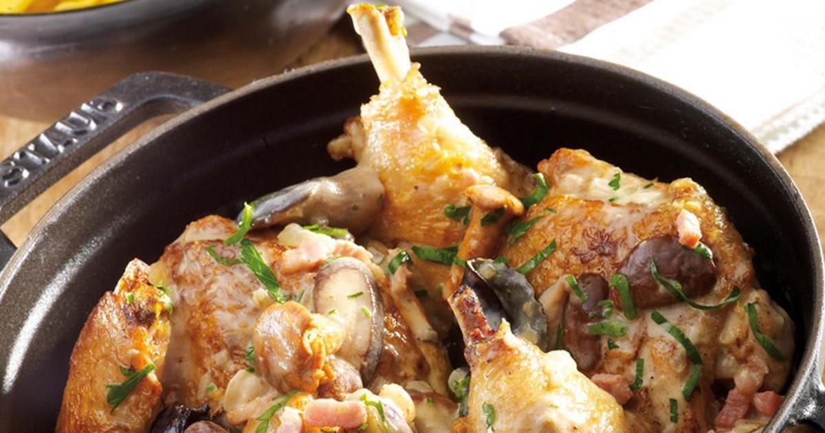 Recettes de poulet en cocotte les recettes les mieux not es - Cuisiner avec une cocotte ...