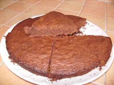 Recette - Gâteau chocolat à la noix de coco   750g