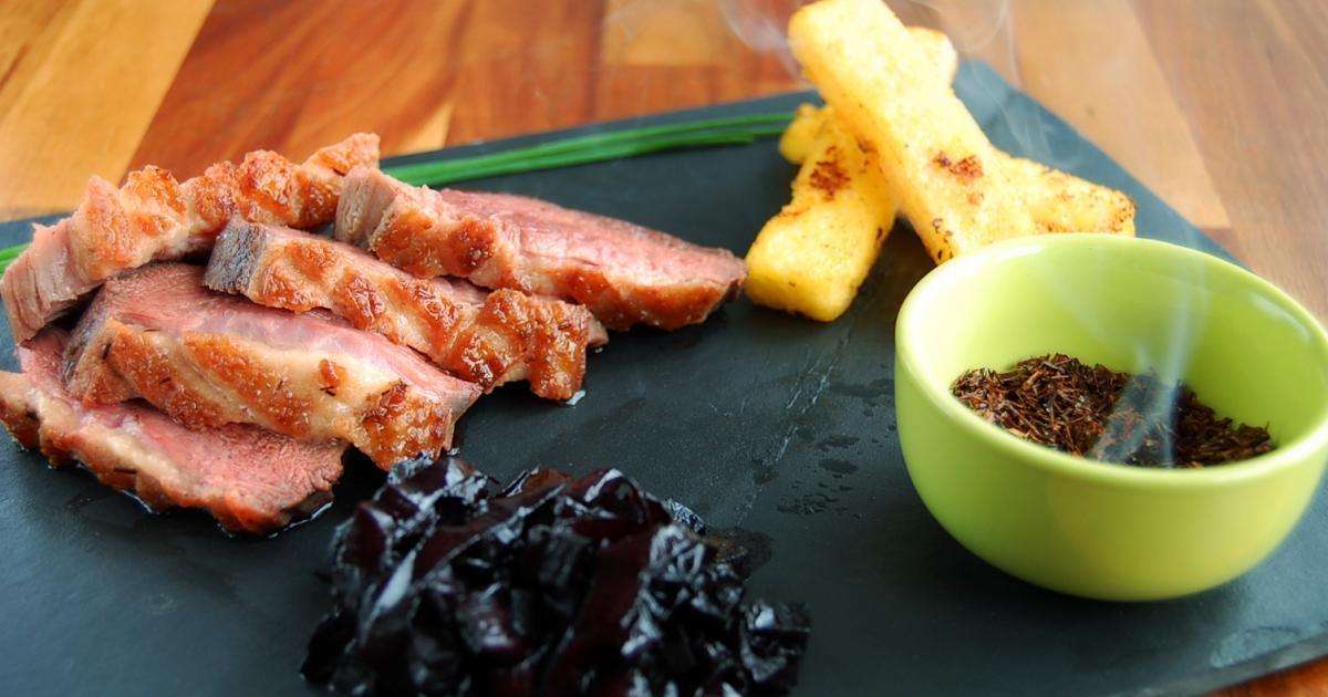 recette magret de canard fermier des landes fum au th rouge et condiment de betterave 750g. Black Bedroom Furniture Sets. Home Design Ideas