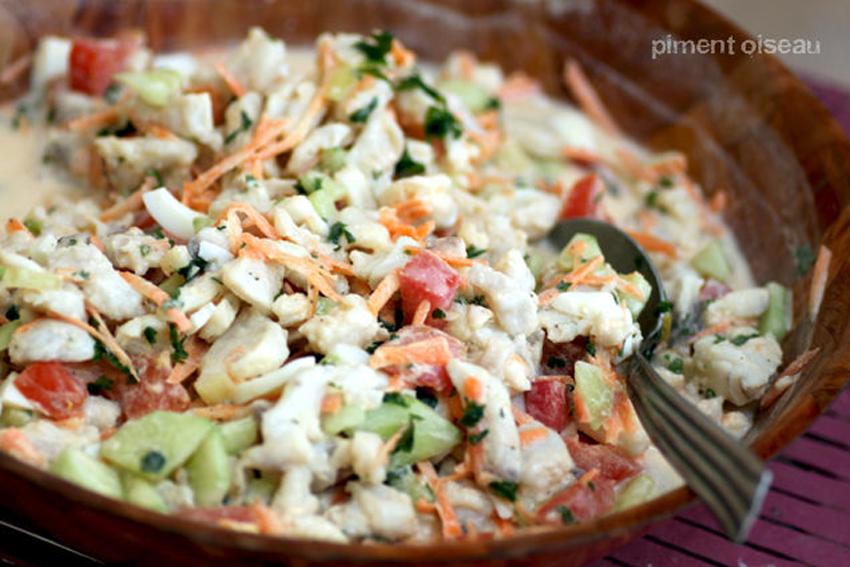 Recette salade de poisson la tahitienne 750g for Salade poisson