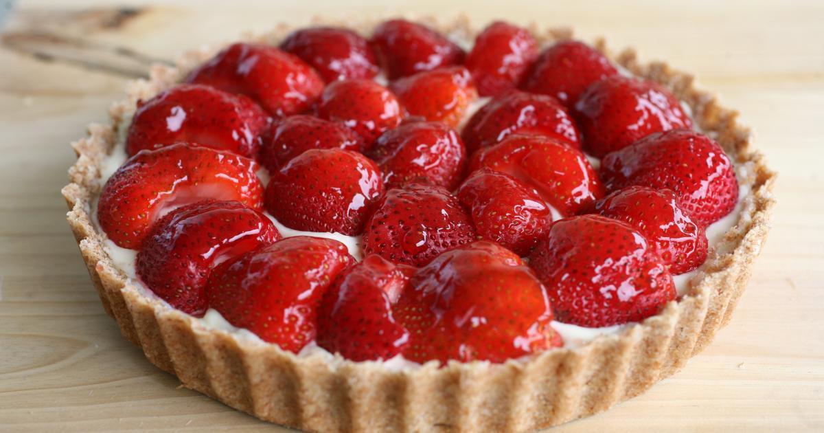 Recettes de p te sabl e les recettes les mieux not es - Decoration tarte aux fraises ...