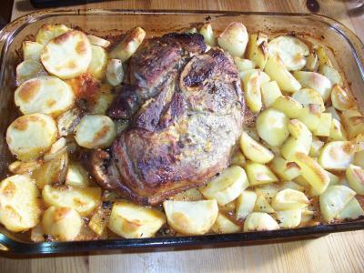 Recette rouelle de porc la moutarde et vin blanc 750g - Cuisiner la rouelle de porc ...