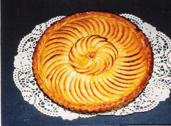 Recettes de tarte aux pommes et cr me patissi re les - Dessin de tarte aux pommes ...