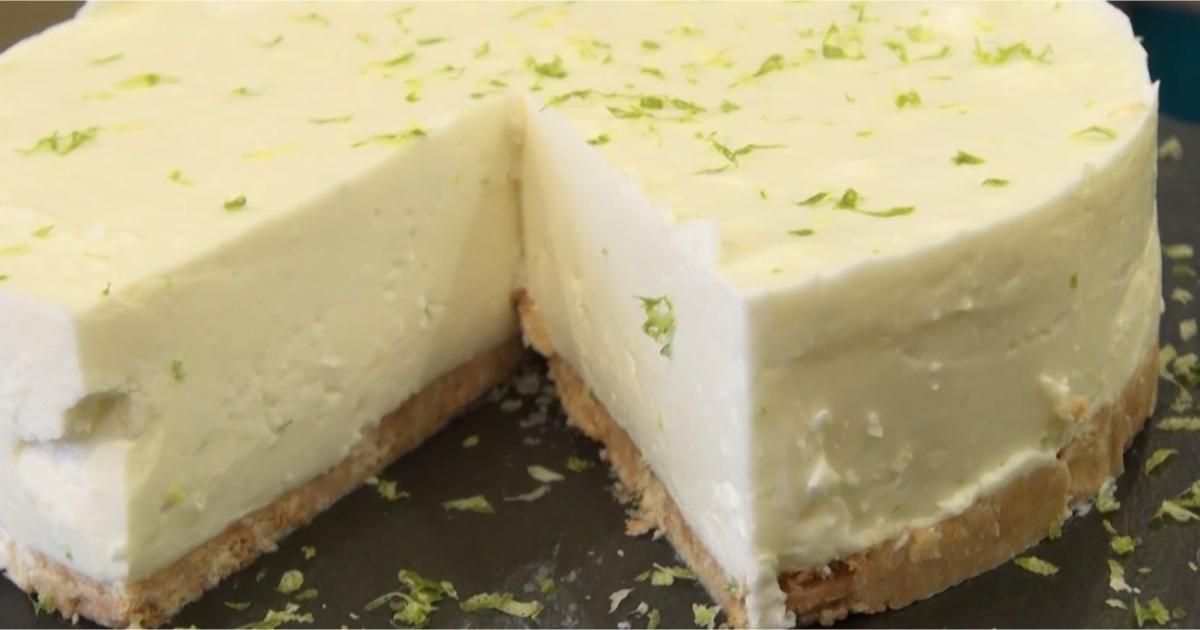 recette cheesecake sans cuisson au citron vert en vid o. Black Bedroom Furniture Sets. Home Design Ideas