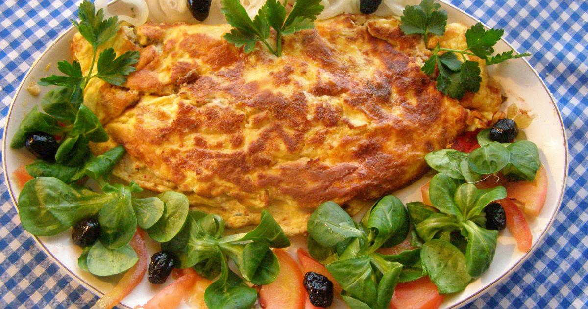 Recette omelette au bleu d 39 auvergne revisit e 750g for Cuisine 750g