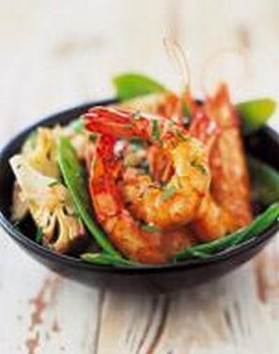 recette salade de crevettes aux pois gourmands 750g. Black Bedroom Furniture Sets. Home Design Ideas