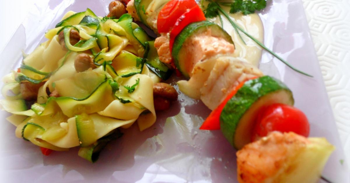 Recette tagliatelles de courgettes et p tes et sa for Documentaire cuisine gastronomique