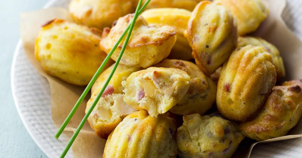 Recettes de madeleines sucr es sal es les recettes les mieux not es - Aperitif dinatoire vegetarien ...