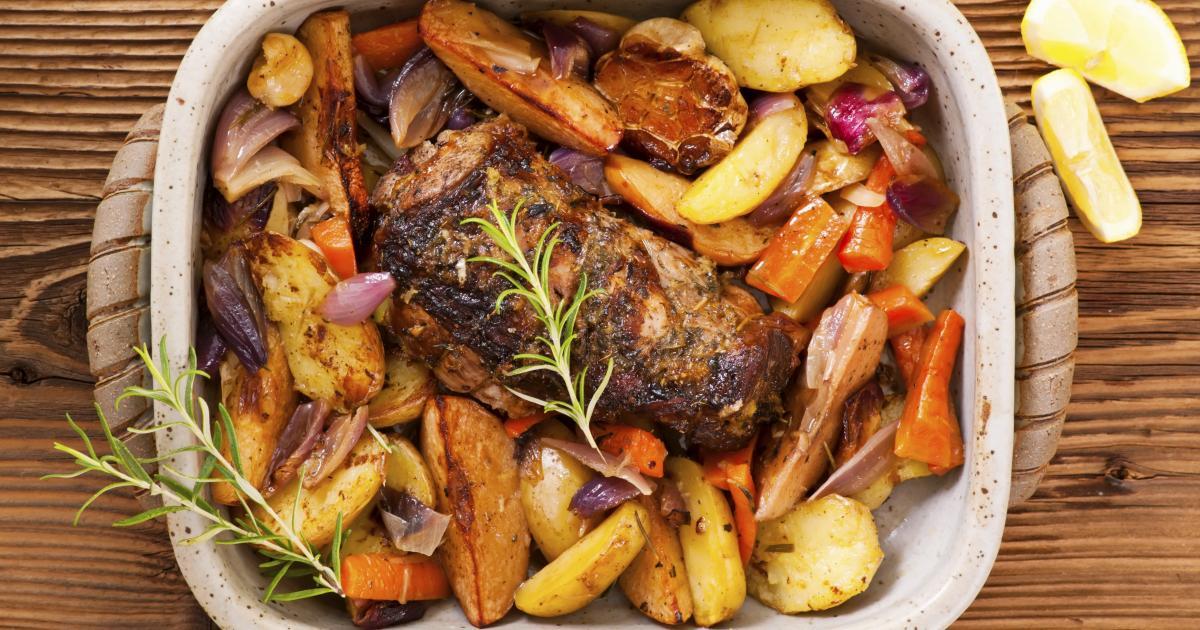 Recette r ti d 39 agneau au romarin et ses l gumes 750g - Roti d agneau cuisson ...