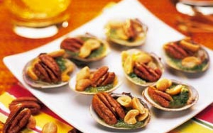 Recette palourdes farcies aux cacahu tes et noix de p can 750g - Comment cuisiner des palourdes ...
