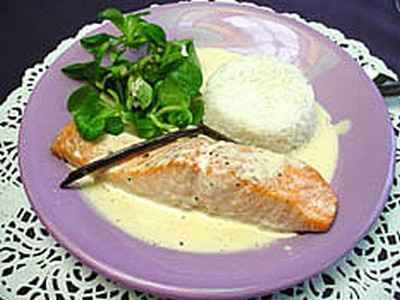 Recettes du pav de saumon la cr me les recettes les - Cuisiner du saumon au four ...