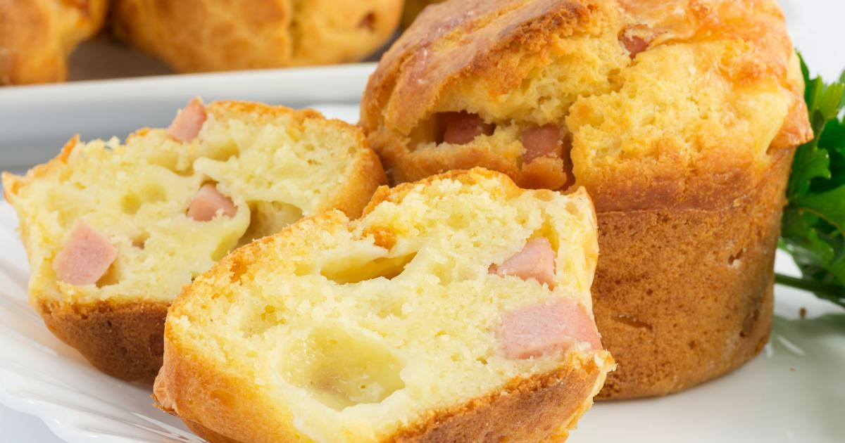 recette - muffin jambon fromage | 750g
