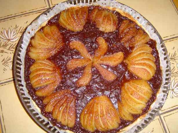 Recette tarte au chocolat et poires sans gluten 750g - Tarte poire chocolat sans oeuf ...