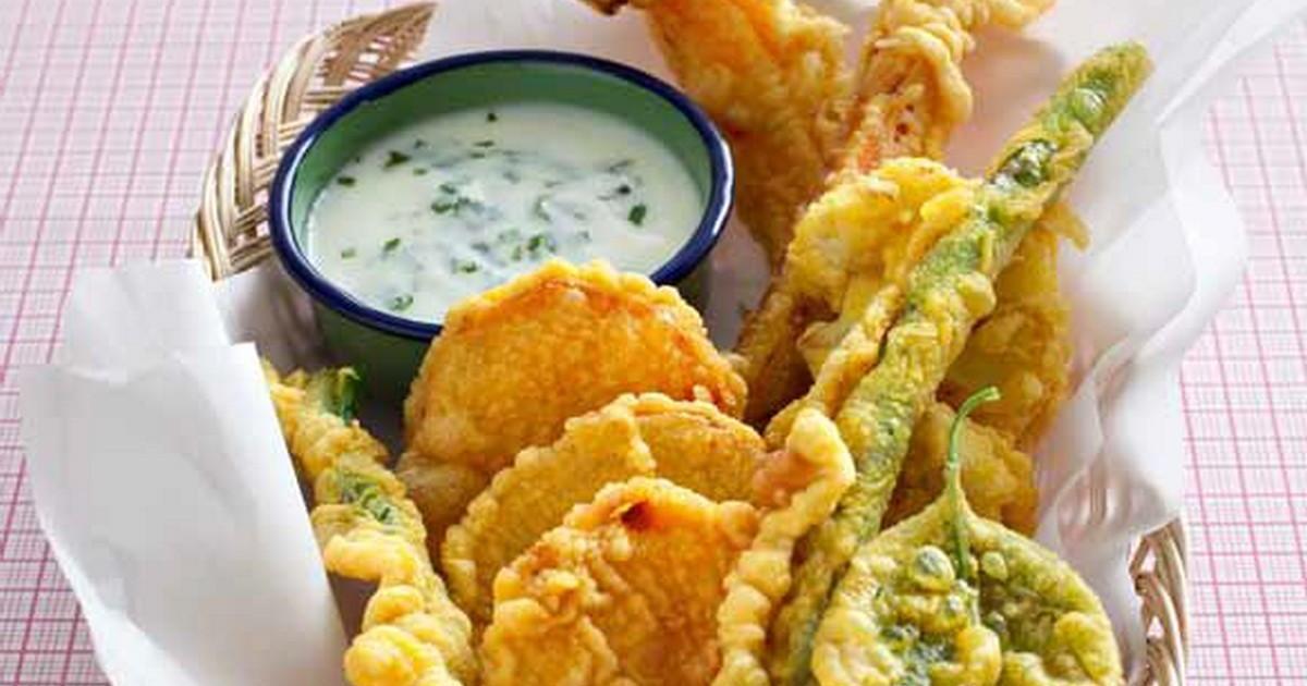Recette - Légumes en tempura au curcuma, sauce yaourt-menthe   750g 8e7b87c27943