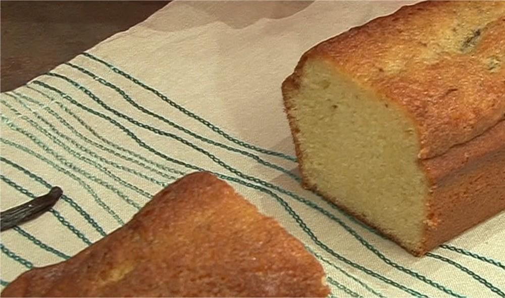 Cake parfumé à la vanille en gousse