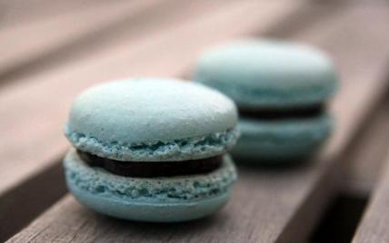 Recette - Macarons bleus au chocolat | 750g