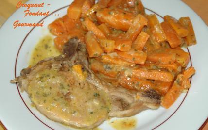 Recette c tes de porc aux carottes 750g - Comment cuisiner les crevettes congelees ...