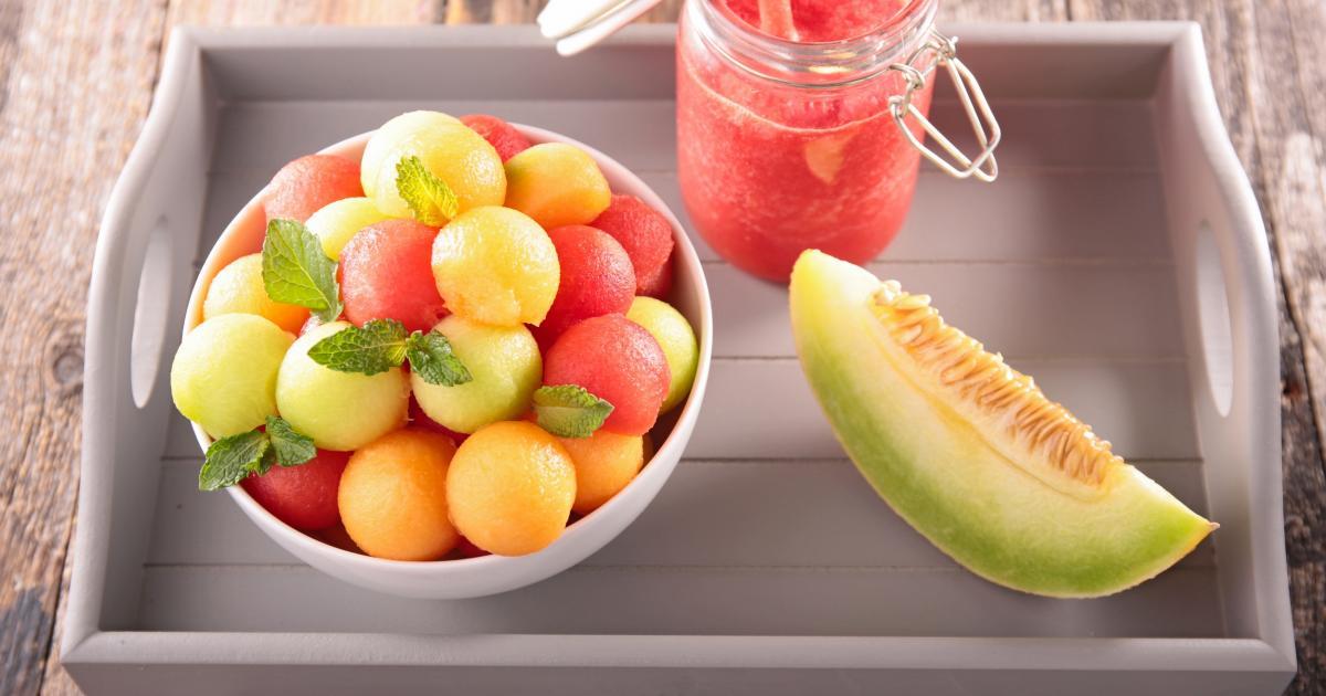 Recette - Duo de billes de melon et pastèque en vidéo