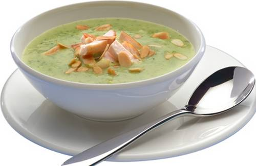 Recette soupe de courgettes au poulet fum et amandes 750g - Comment cuisiner poulet fume ...