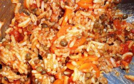 recette riz aux lentilles carottes 750g. Black Bedroom Furniture Sets. Home Design Ideas