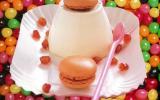 Panna cotta et ses macarons