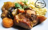 Tajine d'agneau aux coings, oignons et aux fruits secs
