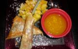 Nems d'ananas et sa sauce à l'orange