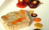 Terrine de foie gras de la mer, carottes multicolores glacées