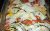 Gratin de tomates courgettes et mozzarela