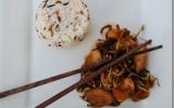 Poulet et pousses de soja