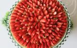Tarte aux fraises, crème d'amande et pistaches torréfiées