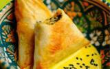 Briouats aux épinards et sauce au curry
