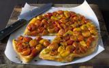 Tatin de tomates cerises chaudes