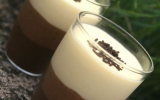 Verrines des trois mousses au chocolat rapide