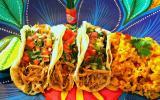 Tacos de poulet et riz mexicain