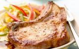 Côte de porc marinée, caramélisée au citron
