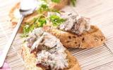Toasts de rillettes de filets de sardines citron basilic