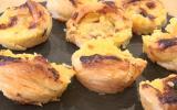 Petits flans portugais sur pâte feuilletée
