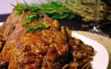 Rôti de boeuf aux champignons et aux marrons