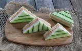 Mini club-sandwich concombre et saumon