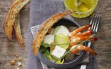 Avocat, pamplemousse, crevettes roses