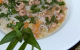 Bouillon dashi aux crevettes grises