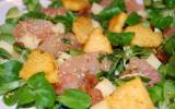 Salade de mâche aux pamplemousses et polenta