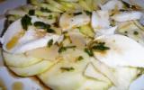Carpaccio de courgettes au parmesan et mozzarella