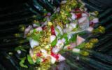 Filets de dorade et croquants au pistou de pistache